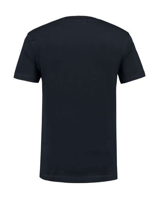 T-shirt heren unisex bedrukken donker blauw