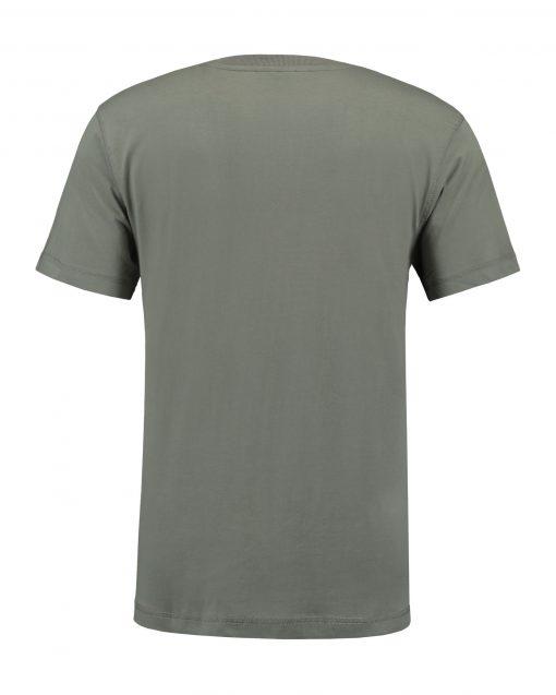 T-shirt heren unisex bedrukken grijs