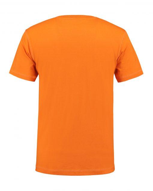 T-shirt heren unisex bedrukken oranje