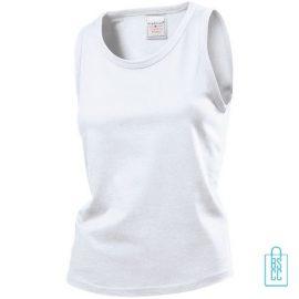 Tanktop Dames Jersey bedrukken wit, tanktop bedrukt, bedrukte tanktop