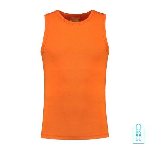 Tanktop Heren Basic bedrukken oranje