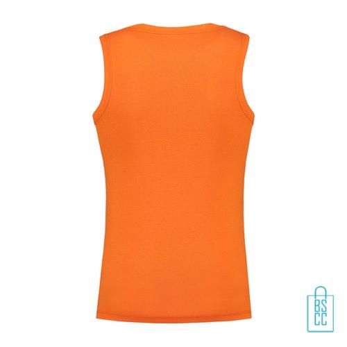 Tanktop Heren Basic bedrukt oranje