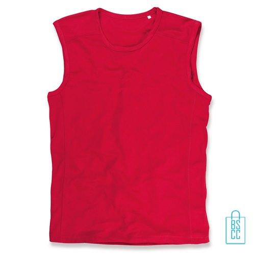 Tanktop Heren Dry-Fit bedrukken rood