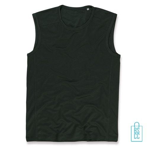 Tanktop Heren Dry-Fit bedrukken zwart