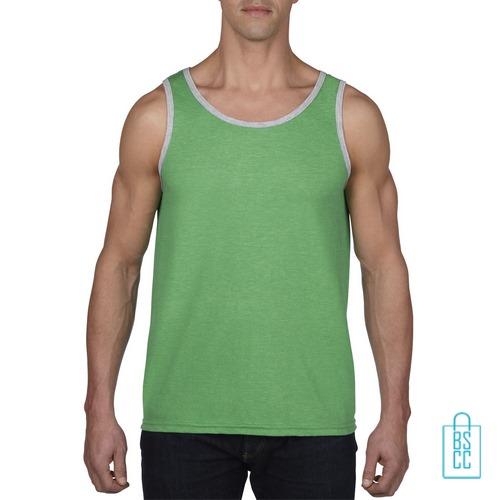 Tanktop Heren Gym bedrukken groen