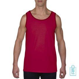 Tanktop Heren Gym bedrukken rood