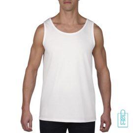 Tanktop Heren Gym bedrukken wit goedkoop