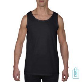 Tanktop Heren Gym bedrukken zwart