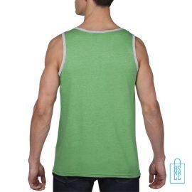 Tanktop Heren Gym bedrukt groen