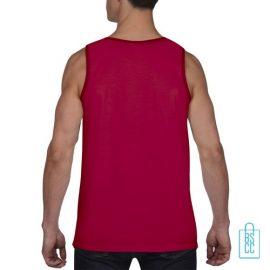 Tanktop Heren Gym bedrukt rood