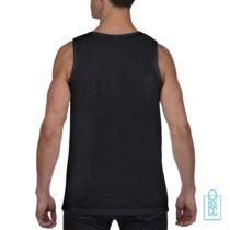 Tanktop Heren Gym bedrukt zwart