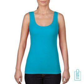 Tanktop Vrouwen Trendy bedrukken blauw, tanktop bedrukt, bedrukte tanktop