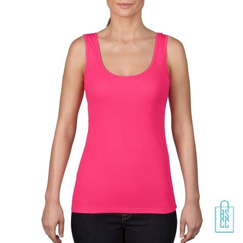Tanktop Vrouwen Trendy bedrukken roze hot pink, tanktop bedrukt, bedrukte tanktop