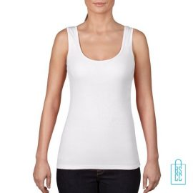 Tanktop Vrouwen Trendy bedrukken wit, tanktop bedrukt, bedrukte tanktop