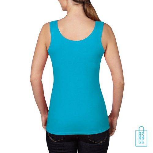 Tanktop Vrouwen Trendy bedrukt blauw, tanktop bedrukt, bedrukte tanktop