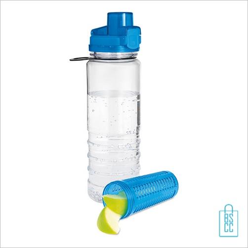 Drinkfles fruitcompartiment bedrukken blauw