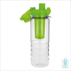 Drinkfles fruitcompartiment bedrukken goedkoop groen