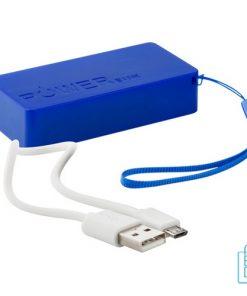 Goedkope powerbank 4000 bedrukken blauw