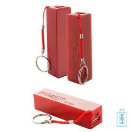 Goedkope powerbank mini bedrukken rood