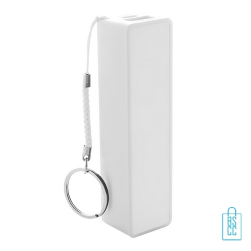 Goedkope powerbank mini bedrukken wit