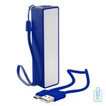 Goedkope powerbank promo bedrukken blauw