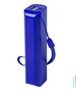 Goedkope powerbank telefoonlader bedrukken blauw