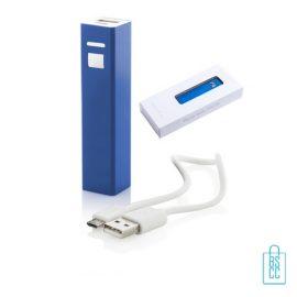 Goedkope powerbank vierkant bedrukken blauw