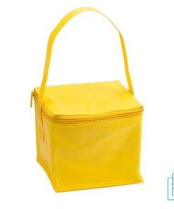 Koeltas goedkoop 4 blikjes bedrukken geel