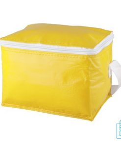 Koeltas goedkoop 6 blikjes bedrukken geel
