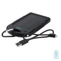 Luxe powerbank zon energie bedrukken zwart