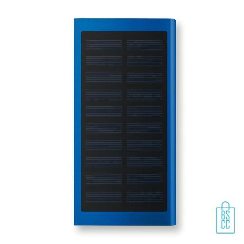 Powerbank solar bedrukken zonne energie