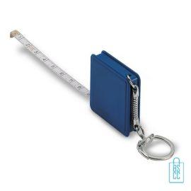Rolbandmaat 1 meter bedrukken blauw