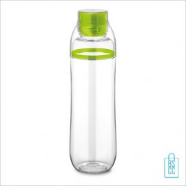 Transparante bidon bedrukken groen