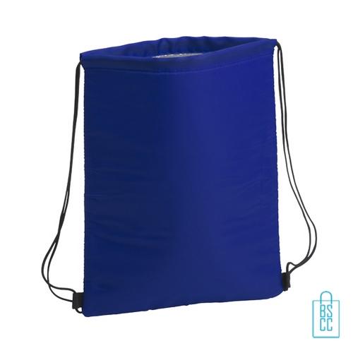 Trekkoord koeltas bedrukken blauw