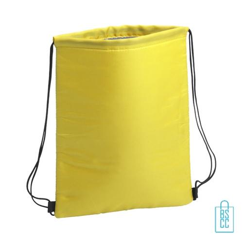 Trekkoord koeltas bedrukken geel