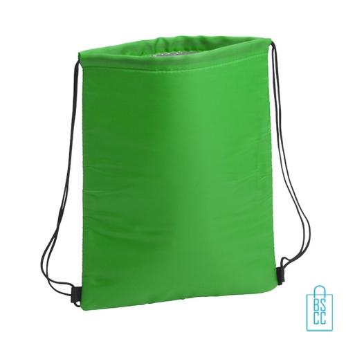 Trekkoord koeltas bedrukken groen