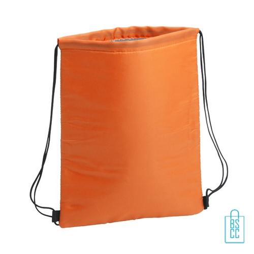 Trekkoord koeltas bedrukken oranje