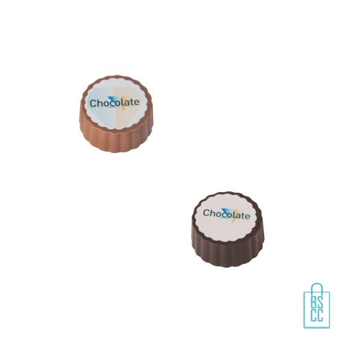 Bonbon hazelnoot praline bulk bedrukken ronde vorm, chocola bedrukken