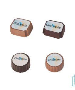 Bonbon hazelnoot praline bulk bedrukt, chocola bedrukken