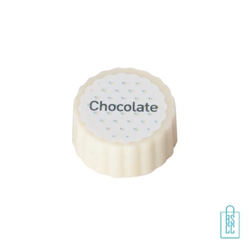 Bonbon hazelnoot praline witte chocolade bulk, chocola bedrukken