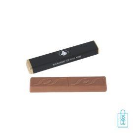 Chocolade stick karamel bedrukken met logo, chocola bedrukken