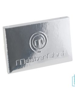 Creditcard chocolade tablet bedrukken goedkoop, chocola bedrukken