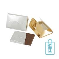Creditcard chocolade tablet bedrukken stans, chocola bedrukken