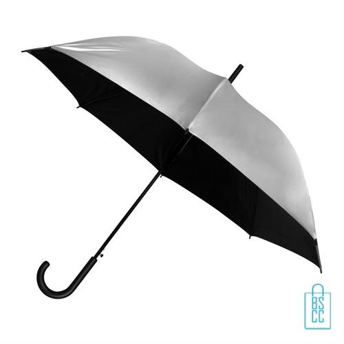 GA-311 zilver kleurige paraplu bedrukken