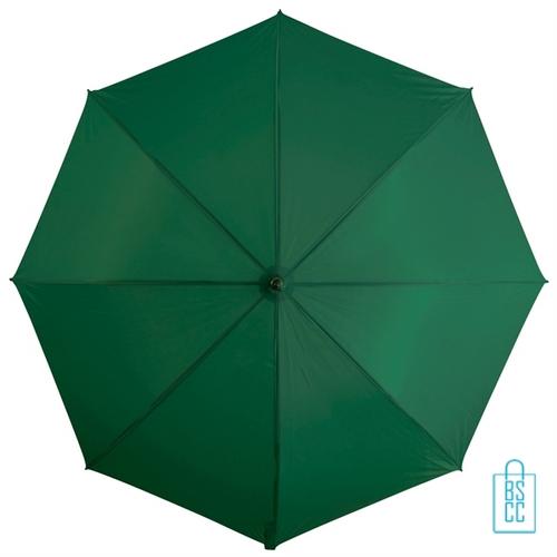 Goedkope paraplu bedrukken GP-31 groen logo