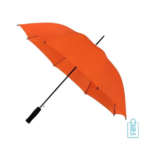 Goedkope paraplu bedrukken GP-31 oranje zwart handvat