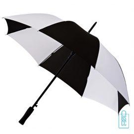 Golf paraplu bedrukken GP-36 zwart wit goedkoop