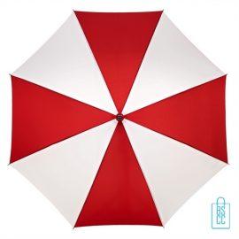Golf paraplu bedrukt GP-36 rood wit goedkoop