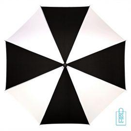 Golf paraplu bedrukt GP-36 zwart wit logo