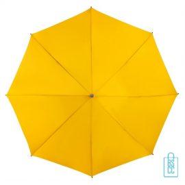 Golf paraplu bedrukt GP-6 oker donker geel goedkoop